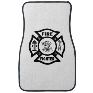 A Firefighter Floor Mat