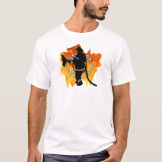 A Firefighter In Flames T-Shirt