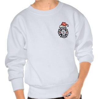 A Firefighter Santa Claus Sweatshirt