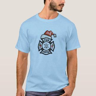 A Firefighter Santa Claus T-Shirt
