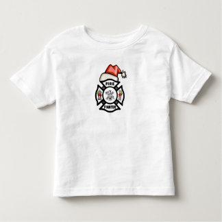 A Firefighter Santa Claus Toddler T-shirt