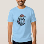 A Firefighter Santa Claus Tshirts