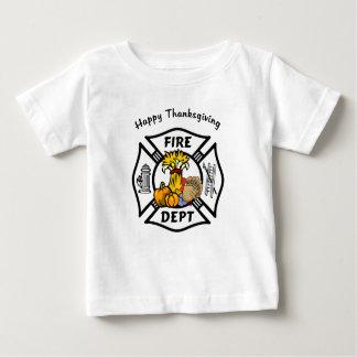 A Firefighter Thanksgiving Baby T-Shirt