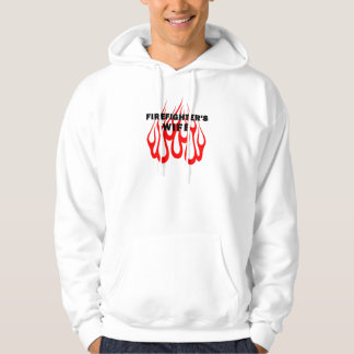 A Firefighter's Wife Flames Hoodie