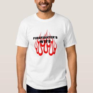 A Firefighter's Wife Flames Shirt