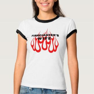 A Firefighter's Wife Flames T-shirt