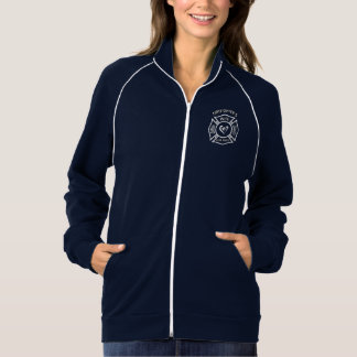 A Firefighters Wife Maltese Heart American Apparel Fleece Track Jacket