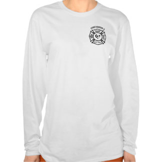 A Firefighter's Wife Maltese Logo T Shirts