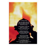 A Fireman's Prayer Poster