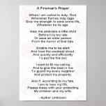 A firemans prayer poster