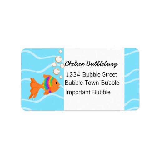 A Fish Fantastic Address Label