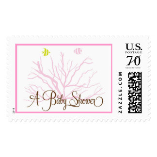 A fish Theme for a Girl Baby Shower Postage
