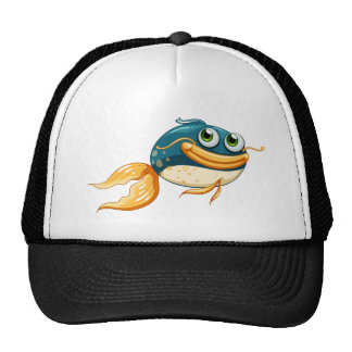 A fish with big eyes trucker hat