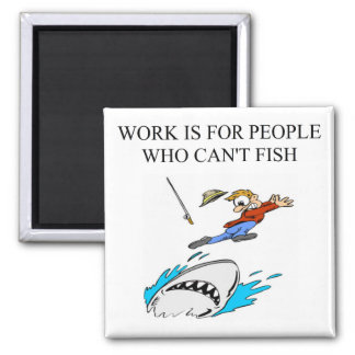 a fisherman design magnet