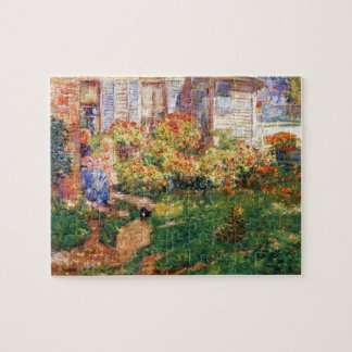 A Fisherman's Cottage by Childe Hassam Jigsaw Puzzle