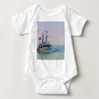 A fishing boat on the Baltic Sea Baby Bodysuit