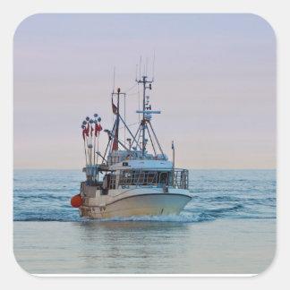 A fishing boat on the Baltic Sea Square Sticker