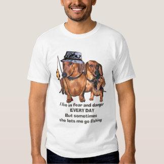 A Fishing Dachshund Tshirt