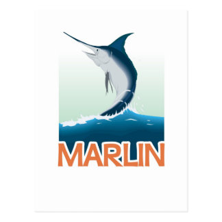 A fishing gift from sea: Shiny marlin Postcard