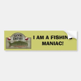 A FISHING MANIAC! BUMPER STICKER