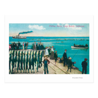 A Fishing Scene with a Huge Catch Post Cards