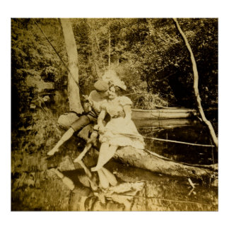 A Fishing Smack - Vintage Stereoview Poster
