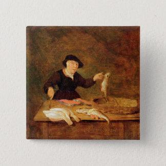 A Fishmonger, c.1667 (oil on panel) Pinback Button