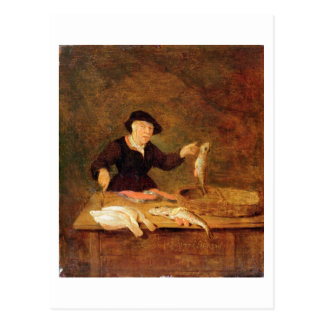 A Fishmonger, c.1667 (oil on panel) Postcard