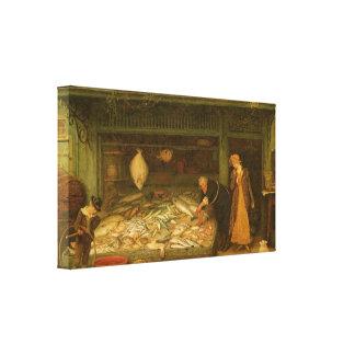 A Fishmonger s Shop by Frederick Walker Canvas Prints