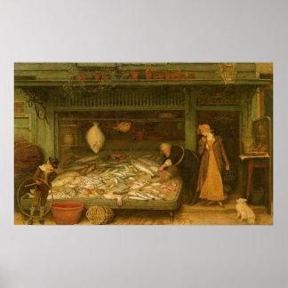 A Fishmonger s Shop by Frederick Walker Print