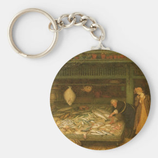 A Fishmonger's Shop by Frederick Walker Keychain