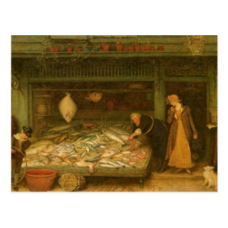 A Fishmonger's Shop by Frederick Walker Postcard