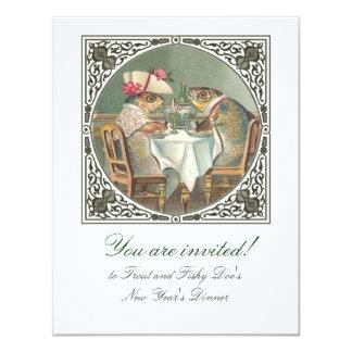 A Fishy Date Customizable 4.25x5.5 Paper Invitation Card