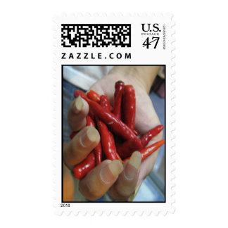 A Fistful of Chillies Postage Stamp