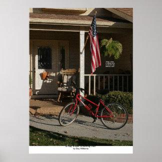 A Flag, a Bike, a Rocking Chair Poster