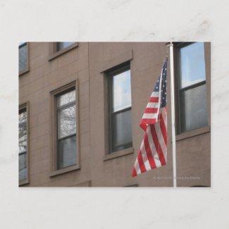 A flag postcard