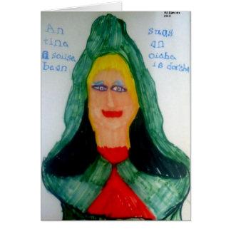 A Flame of a Woman (Irish Gaelic) Notecard
