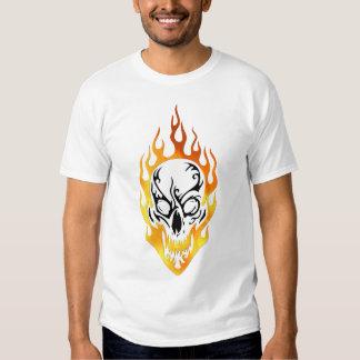 A Flaming Skull Tattoo T-shirt