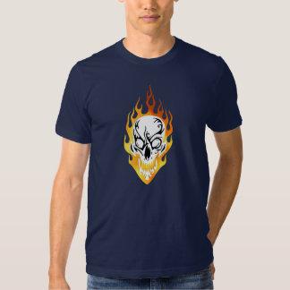 A Flaming Skull Tattoo T Shirt