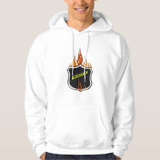 A Flaming Tattoo Police Badge Hoodie