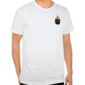 A Flaming Tattoo Police Badge Shirts