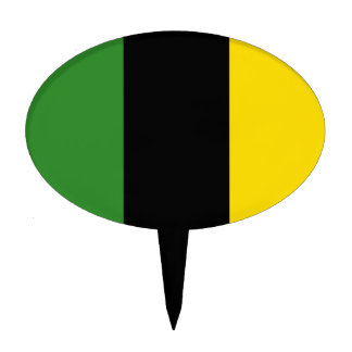 A Flash Dash of Jamaican Colours Cake Topper