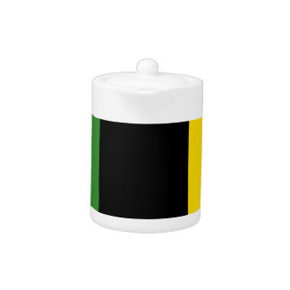 A Flash Dash of Jamaican Colours Teapot