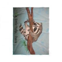 A fleece throw, animal print