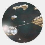 A Fleet Action Classic Round Sticker