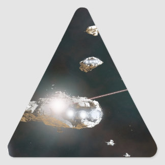 A Fleet Action Triangle Sticker