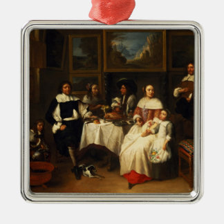 A Flemish Family at Dinner Christmas Tree Ornaments