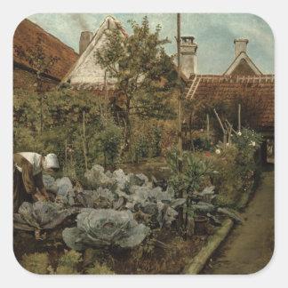 A Flemish Garden Square Sticker