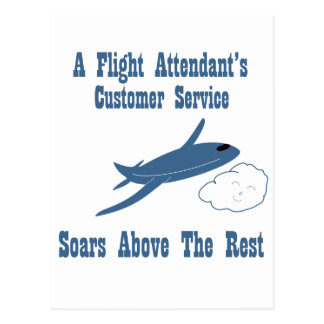 A Flight Attendant's Customer Service Soars Postcard