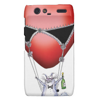 a flight of fancy - cat cartoon, tony fernandes motorola droid RAZR cover
